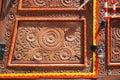 Wooden door of a cultural pakistani truck