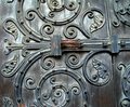Wooden Door details Stock Photography