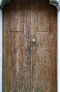 Wooden Door of Erice Stock Photography