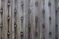 Wooden door at fort pulaski on tybee island in savannah georgia Stock Images