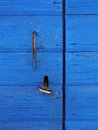 Wooden door with key Royalty Free Stock Photo