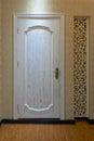 Wooden door modern family illuminative beautiful Stock Photo
