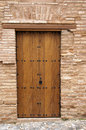 Wooden door outside Alhambra Royalty Free Stock Image