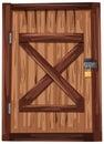 Wooden door with padlock Royalty Free Stock Photo