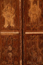 Wooden door palace Royalty Free Stock Photo