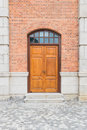 Wooden door of a tower Royalty Free Stock Photo