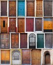 Wooden doors collection Royalty Free Stock Photo