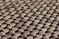 Wooden dots rows of round circle of Stock Photography