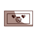 Wooden drawer kawaii character