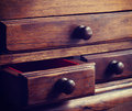 Wooden drawers old vintage retro style Royalty Free Stock Photography