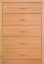 Wooden dresser modern close up Royalty Free Stock Image