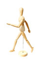 Wooden dummy walking Royalty Free Stock Photos