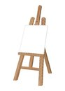 Wooden easel abstract this is file of eps format Royalty Free Stock Photo