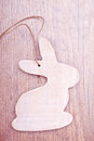 Wooden  easter bunny decoration Royalty Free Stock Photos