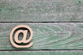 Wooden Email Symbol