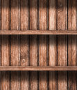 Wooden empty stock shelves background Royalty Free Stock Image