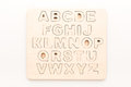 Wooden english letters