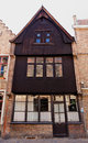 Wooden facade house Bruges / Brugge, Belgium Royalty Free Stock Photo