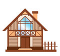 Wooden family house Stock Photo