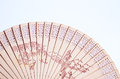 Wooden fan detail of a Royalty Free Stock Photo