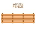 Wooden farm boards fence wood silhouette construction in flat style Royalty Free Stock Photo