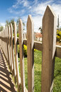 Wooden fence close up a Royalty Free Stock Images