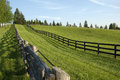 Wooden fence in the country old at a horse farm Royalty Free Stock Images