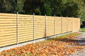 Wooden fence in the coutryside autumn Royalty Free Stock Image