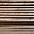 Wooden fence with the effect of dizziness pronounced play light and shadows Royalty Free Stock Photos
