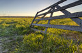 Wooden fence in field umea sweden Royalty Free Stock Photography