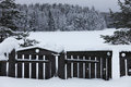 Wooden Fence And Gate In The S...