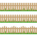 Wooden fence with grass.
