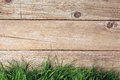 Wooden fence and grass Royalty Free Stock Photo
