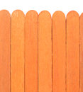 Wooden fence isolated on white background Royalty Free Stock Photo