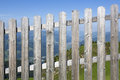 Wooden fence in the mountains Royalty Free Stock Photography