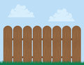 Wooden fence with sky background Stock Image