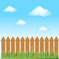 Wooden fence, summer grass Stock Photography