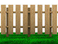 Wooden fence on white background d image Stock Photo