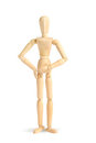 Wooden figure Stock Image
