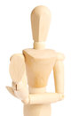 Wooden figure Royalty Free Stock Photography