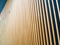 Wooden fin facade of modern building Royalty Free Stock Photography
