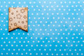 Wooden flag with stars on blue