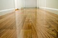 Wooden floor in hallway Stock Photos