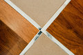 Wooden floor and tile Stock Photo