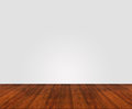 Wooden floor with white wall painted unstructured Stock Images