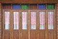 Wooden folding door background