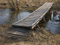 Wooden foot bridge Royalty Free Stock Image