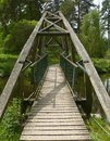 Wooden footbridge Stock Photos