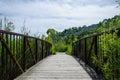 Wooden Footbridge In A Nature ...