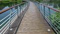 Wooden footbridge in the park Royalty Free Stock Photography